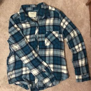 Blue A&F Flannel
